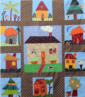 Appliqued Quilt Top